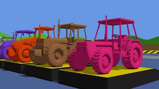 Learn Colors with Tractor & Animation for Kids and Babies - Cartoons | TRAKTORY Kolory