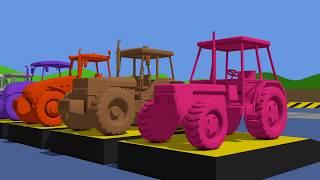 Learn Colors with Tractor & Animation for Kids and Babies - Cartoons | TRAKTORY Kolory Bajka