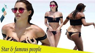 Chloe Goodman hits the beach in a bikini during sunny getaway to Dubai