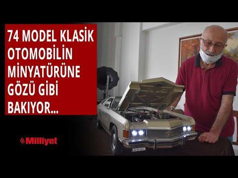 36 yılda yaptığı klasik otomobilin minyatürüne gözü gibi bakıyor
