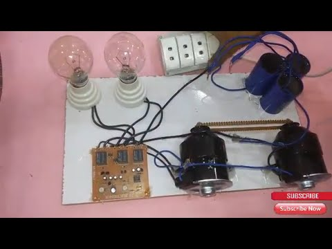 Free Energy  Work 100% power electric capacitor  generated  220v make free energy