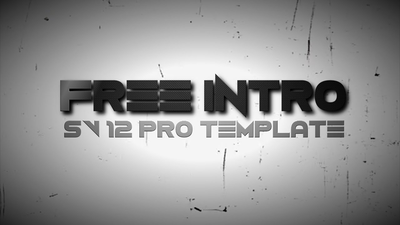 free sony vegas pro 12 intro template - grey grain effect - youtube, Powerpoint templates