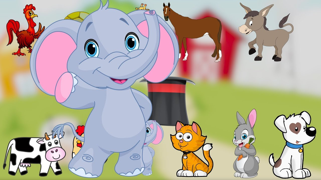 Çocuklar Çizgi Film İle Hayvanları Öğreniyor Türkçe - DİNGO DİNGO