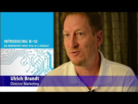 Swissbit's new PCIe M.2 N-10 - Interview during FMS 2017