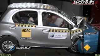 Toyota Etios - Crash Test #SaferCarsForIndia - Global NCAP