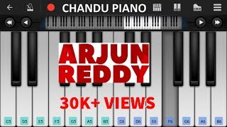 Arjun reddy | love bgm - mobile perfect piano tutorial | keyboard notes