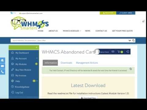 How to download Abandoned Cart Module for WHMCS (Whmcs Modules)