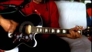 Party Line ~ The Kinks ~ Acoustic Cover w/ Epiphone EJ-200CE BK & Bluesharp