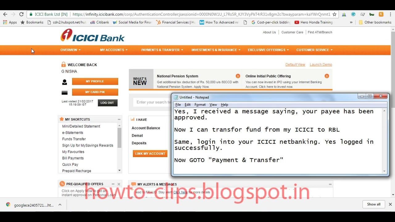 Icici online forex transfer