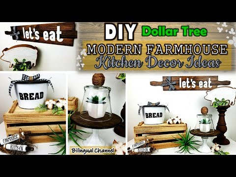 Dollar Tree DIY | Farmhouse Kitchen Decor | DIY Home Decor Ideas 2019