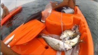 Xerelete, Lula e Corvina na Praia Vermelha - Pesca com Caiaque - Kayak Fishing - Leogafanha - Dicas