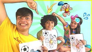 DESAFIO COLORINDO COM 3 CORES (3 marker challenge) Meninos VS Menina  Ft. Gabriel Moreira