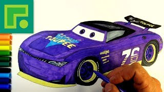 Cars 3 next-gen racer No76 Vinyl Toupee Drawing step by step Video for kids