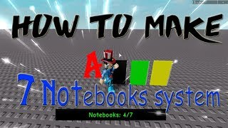 How to make a 7 Notebooks System (To Find!) - Progress Bar   Roblox Studio [SPECIAL 150 SUBSCRIBERS]