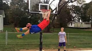 Mini hoop dunks