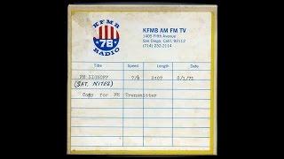 KFMB AM FM TV - FM Signoff  8/1/71