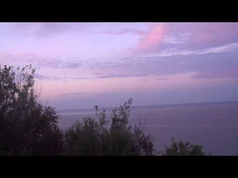 Red sky over Tyrrhenian Sea near Brace, Calabria, Italy