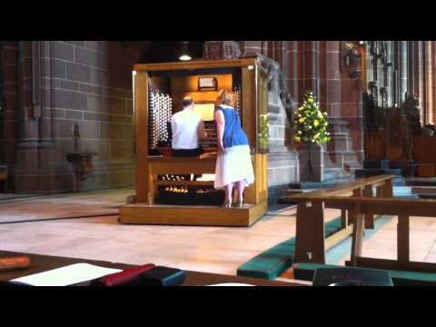 Liverpool Cathedral Organ - Choral Song, SS Wesley
