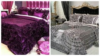 Top class designers bed sheet designs, Royal Bedsheet cover Bridal bedsets designs