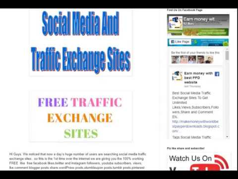 Best Social Media Traffic Exchange Sites To Get Unlimited Likes - top traffic exchange sites
