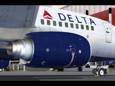 FSX PMDG 737 NGX DELTA Las Vegas to San Diego Full Flight Passenger View