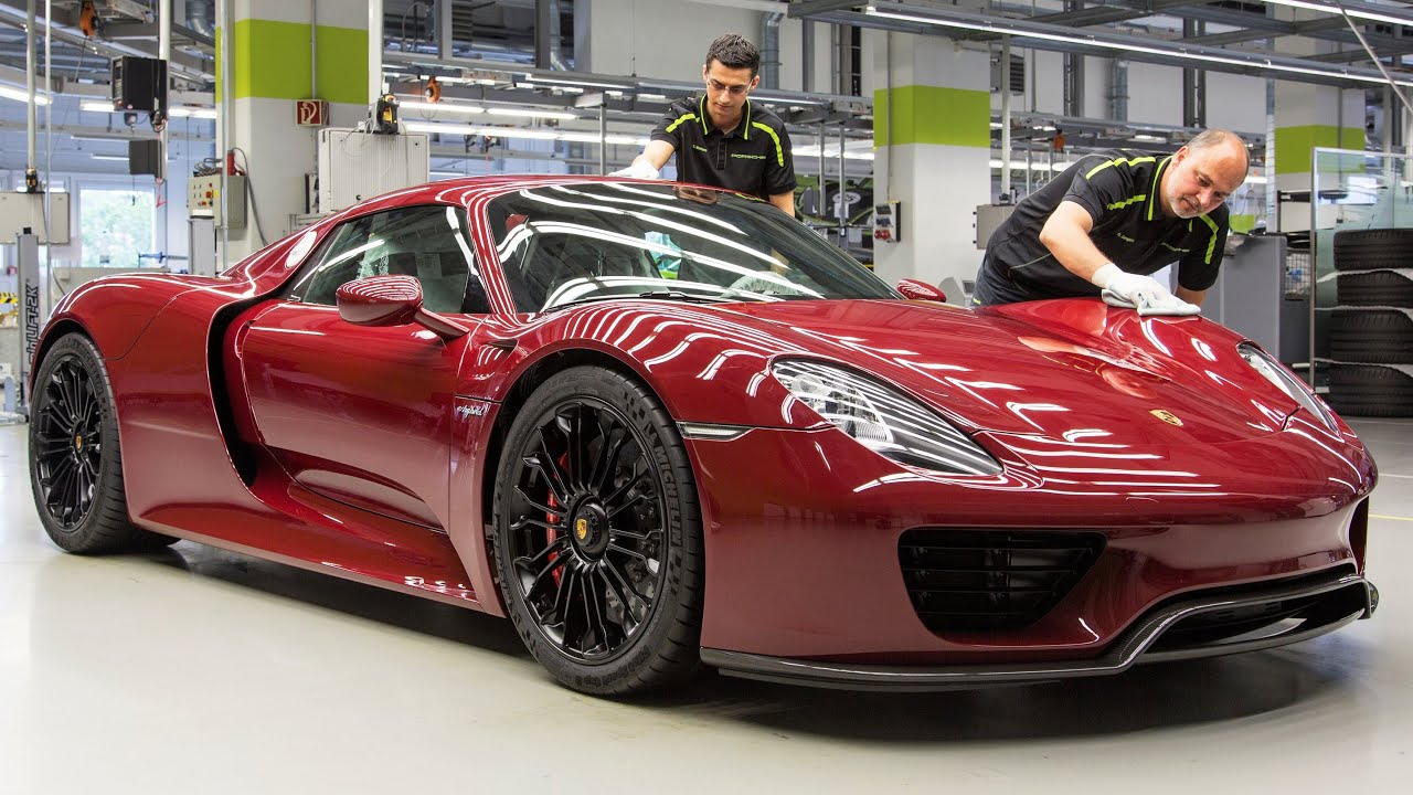 Porsche 918 Spyder Production - YouTube on