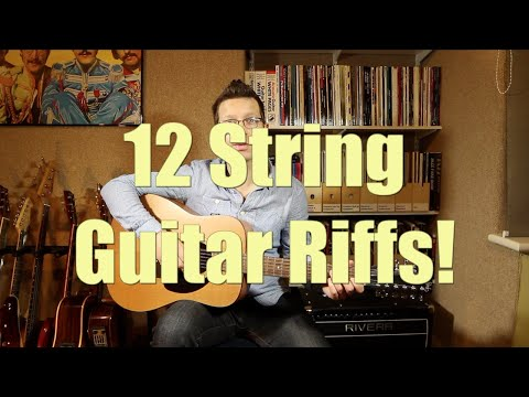 Twelve String Guitar Riffs Performed  Guitar Teacher Cliff Smith