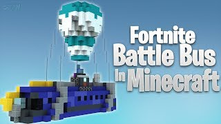 FORTNITE Battle Bus In Minecraft| Minecraft Timelapse