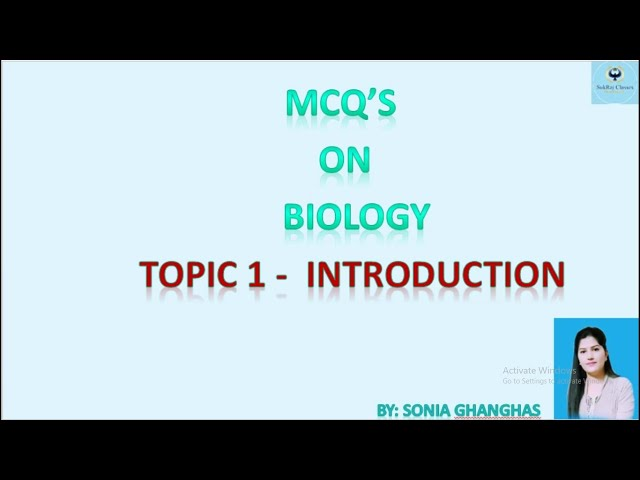 MCQs / Objective questions -Introduction of BIOLOGY/जीवविज्ञान for Competitive Exams#sukraj classes.