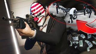 ROBBING BANKS w/ A DRONE!! (GTA 5 Online)