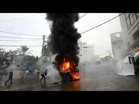 لبنان: مواجهات في مظاهرة أمام السفارة الأمريكية تنديدا بقرار ترامب حول القدس