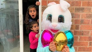 Easter Egg Hunt Surprise Healthy Food Challenge for Kids Pretend Play