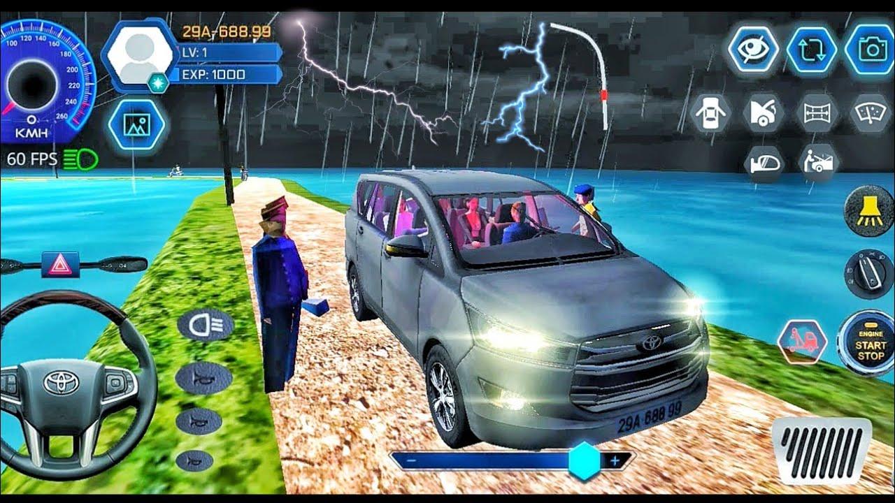 Car Simulator Vietnam - Heavy Lighting & Thunderstorm ⛈️ Toyota Car Games Android Gameplay #38 Ep1