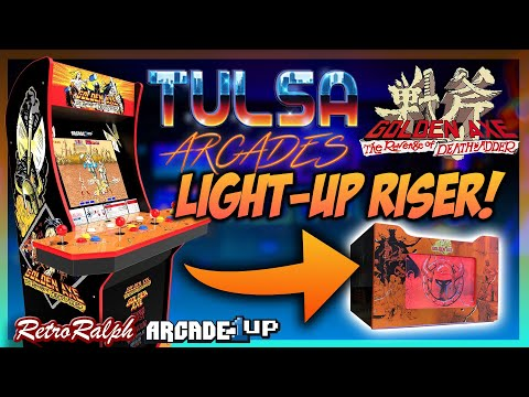 Arcade1up GoldenAxe Light Up Riser Kit by Tulsa Arcades + Black Friday Deals! from Retro Ralph