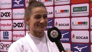 Interview Majlinda KELMENDI (KOS) Winner Dusseldorf GS 19