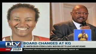 Ex-KCB CEO, Martin Oduor, Carol Musyoka to leave KQ board