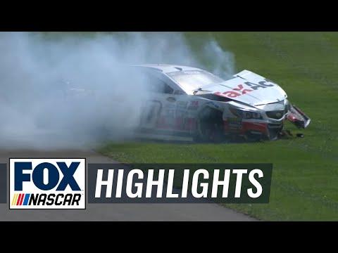 Kasey Kahne Wrecks Danica Patrick - Fontana - 2016 NASCAR Sprint Cup