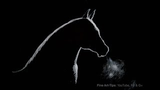 How to Draw a Horse Silhouette With Backlighting - Narrated