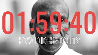 What Does It Take To Run A SUB 2 HOUR MARATHON? Eliud Kipchoge's 1:59 challenge