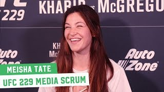 UFC 229: McGregor vs. Khabib || Miesha Tate Media Scrum