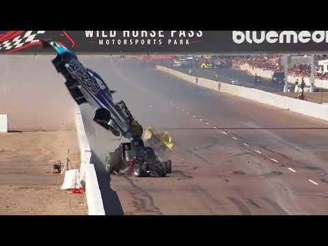 Jonnie Lindberg and John Force collide in Phoenix