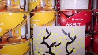 Kā izmantot Akrit 4 un Akrit 12 dekoru zīmēšanai(Lai izdekorētu sienas, vai uzzīmēt kādu akcentu uz sienas nepieciešamas tikai Akrit krāsas un pudele ar ko izvedot ziedu formu., 2016-12-05T10:57:50.000Z)