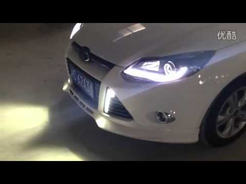 Ford Focus Xenon Headlight With Led Daytime Running Light Youtube