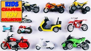 Motorcycle Bike Scooter For Kids | Vehicles For Children | Kids Learning Video | Preschool Learning