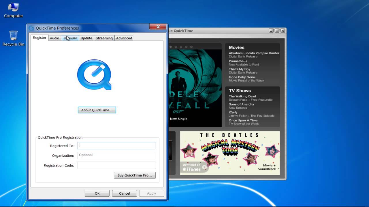 download quicktime player 7 pro for windows