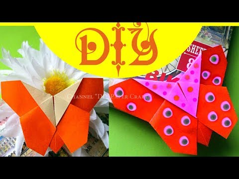 DIY Origami How to Make a Paper Bookmark BUTTERFLY. Bookmark Corner for a book Easy Tutorial