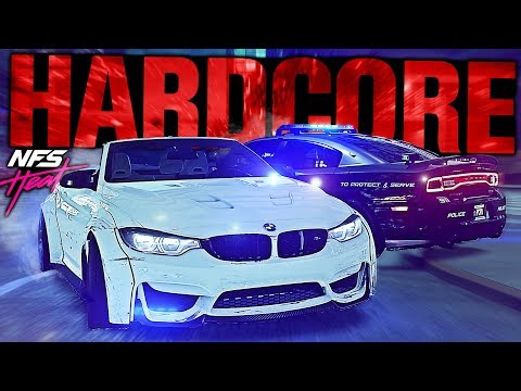 Need for Speed HEAT - HARDCORE Police Mode! (NO REPAIR/HUD) |