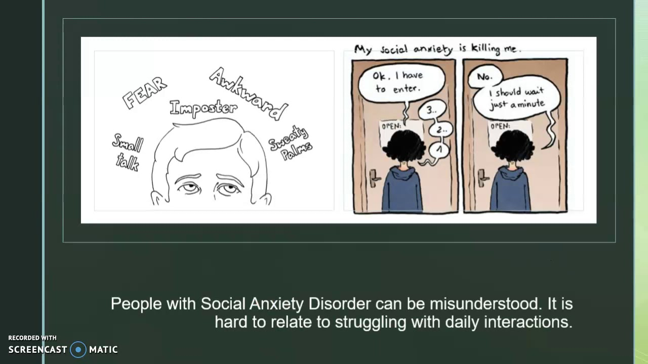 social anxiety disorder- mental health project - YouTube
