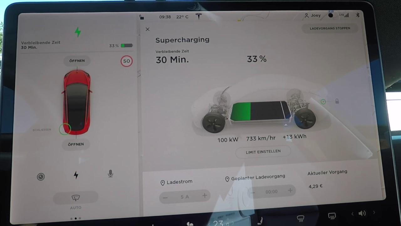 Tesla Model 3 Standard Range Plus charging with CCS on ...