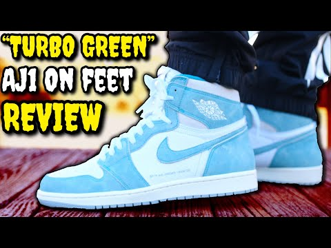 """TURBO GREEN"" AIR JORDAN 1 ON-FEET REVIEW! BEFORE YOU BUY! DON'T SLEEP ON THESE!"
